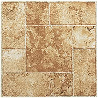Achim Imports FTVMA42045 Tivoli Beige Terracotta 12 x 12 Self Adhesive Vinyl Floor Tile-45 Tiles/45 Sq. Ft, Piece, 45