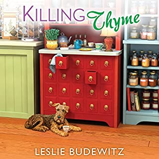 Killing Thyme     Spice Shop Mystery Series, Book 3              By:                                                                                                                                 Leslie Budewitz                               Narrated by:                                                                                                                                 Dara Rosenberg                      Length: 9 hrs     147 ratings     Overall 4.5