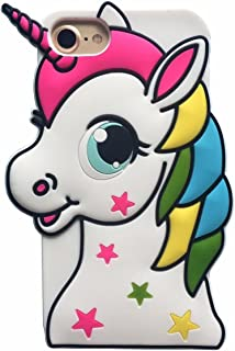 Joyleop Stars Unicorn Case for iPhone 5 5C 5G 5S,iPhone SE Cover,Cute Kids Girls Cartoon 3D Soft Silicone Shell,Fun Animal Kawaii Character Fashion Unique Rubber Shockproof Protector for iPhone5s 5g