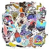 Chileeany Lot de 100 Rétro Vintage Stickers Graffiti Stickers Valise Autocollants pour Valise Voyage Skateboard Guitare