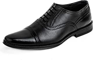 LOUIS STITCH Men's Formal Leather Oxford Shoes || Handmade Genuine Leather Shoes for Men || Featherly Comfortable Gunmetal...