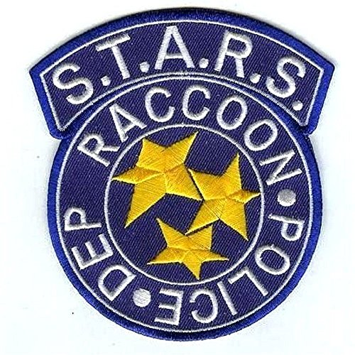 Raccoon Police Logo Costume Cosplay Patch Chest Tag Costume Cosplay Tactical Patch Klettband Taktishe Aufn/äher Titan One Europe Hook Fastener Resident Evil S.T.A.R.S