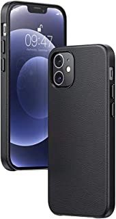 UGREEN Genuine Leather Case compatible for iPhone 12/12 Pro 6.1 inch, Full Protection Elegant Leather Cover Shockproof Ant...