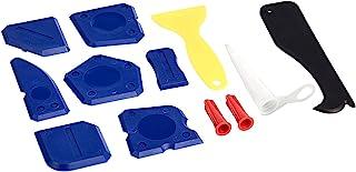 Amazonbasics Sealant Caulking Tool Kit, Include: Silicone Sealant Finishing Tool, Grout Scraper, Caulk Remover, Caulk Nozz...