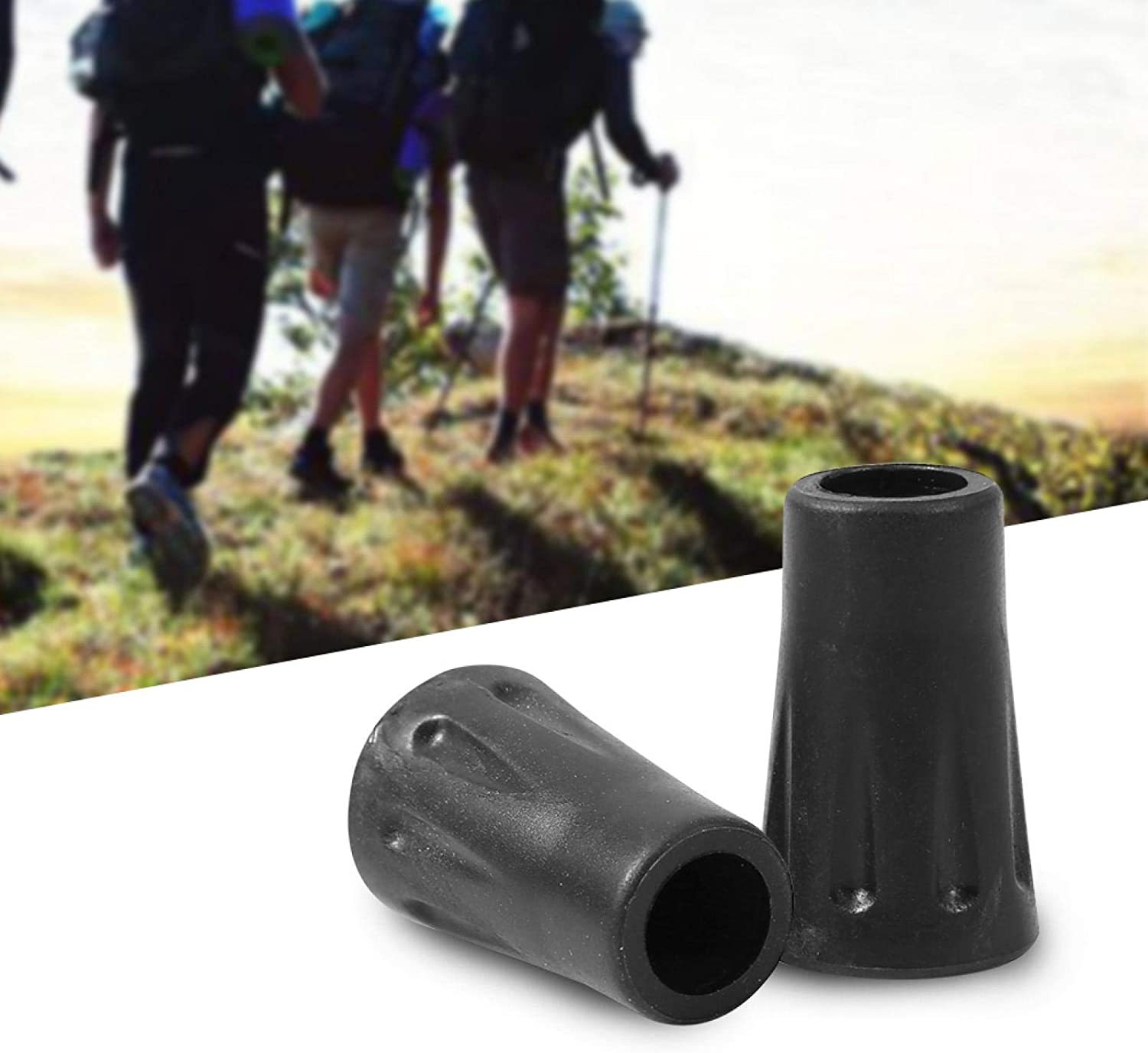 July Gifts Hiking Pole Replacement Limited price Jacksonville Mall Protect Stick Rubber Walking