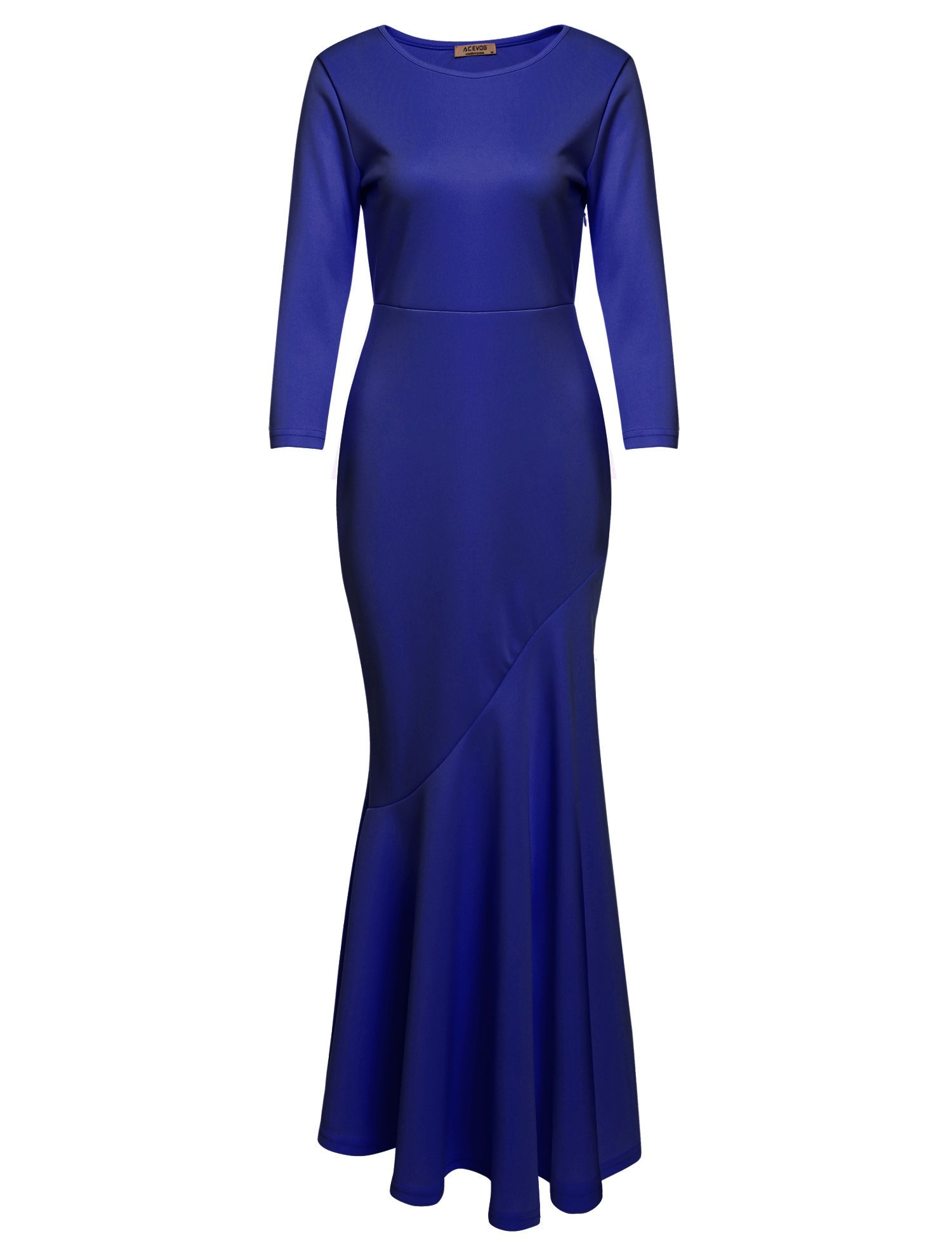 Available at Amazon: ACEVOG Women's 30s Brief Elegant Mermaid Evening Dress Bodycon Evening Gown