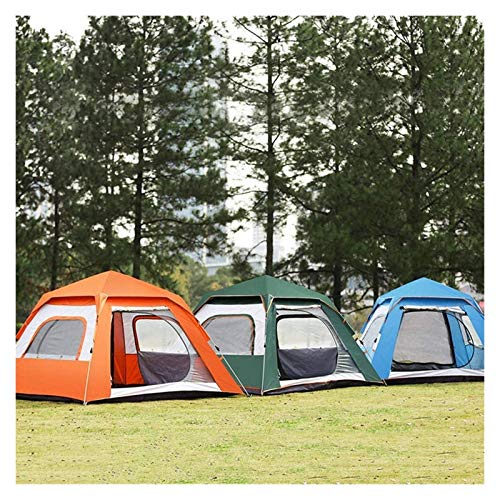 Tienda de campaña al aire libre, Familia de doble capa que acampa de espesamiento automático y protección UV Portátil Cabina instantánea portátil Color de montañismo: Azul, Tamaño: 240x240x155cm