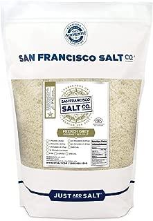 French Grey Sea Salt 2 lb. Bag Coarse Grain - Sel Gris by San Francisco Salt Company