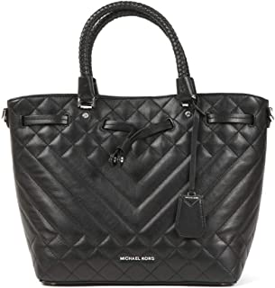 Michael Kors 30S9SZLM8I-001 Blakely Medium Quilted Leather Bucket Bag, Black