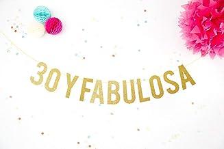 Decoración Fiesta de Cumpleaños 30 y Fabulosa Celebración 30 años 40 cumpleaños: Amazon.es: Handmade