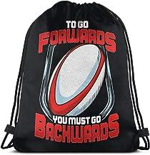 BFGTH bolsa con cordón To Go Forwards You Must Go Backwards Drawstring Backpack Rucksack Shoulder Bags Gym Bag