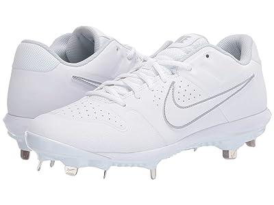 Nike Alpha Huarache Varsity Low (White/White/Pure Platinum) Men