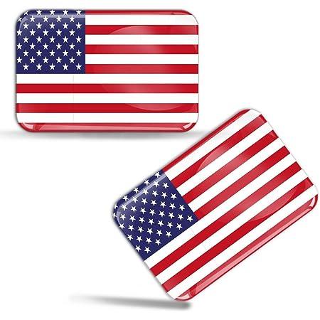 Biomar Labs 2 X Aufkleber 3d Gel Silikon Stickers Usa Vereinigte Staaten Amerika America United States Flagge Fahne Flag Auto Motorrad Fahrrad Fenster Tür Pc Handy Tablet Laptop F 44 Auto