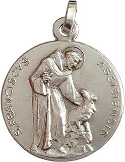 Medaglia di San Francesco D'Assisi Massiccio 925 millesimi - Patrono d'Italia e D'Europa