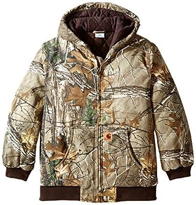 Carhartt Big Boys' Work Camo Active Jacket, Realtree Xtra, 14-16/Large