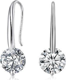 Ai.Moichien Women Cubic Zirconia Hook Earrings Drop Dangle Dainty Elegant Party Jewelry