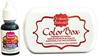Premium Stamp Ink Pad and Refill Combo Pack by ColorBox and The Stamps of Life - Cranberry Red