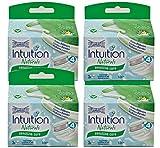 Wilkinson Intuition Naturals Sensitiv Care Lot de 4 paquets de 3 lames de rasoir avec recharge de savon et bande à l'aloe