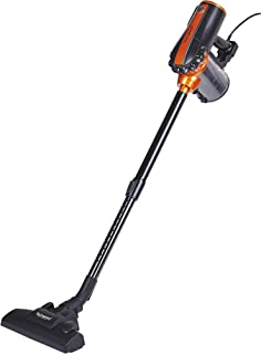 Techwood TAS-655 Aspirateur balai 2 en 1, 600 W, 0.5 liters, Noir/Orange