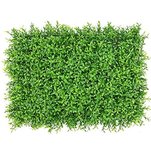 Seto artificial, falso panel de pared planta, Ivy pantalla Valla Telón de fondo de imitación de hierba decorativa para exterior, interior, patio trasero y Decoración (maní grande verde de la hoja)
