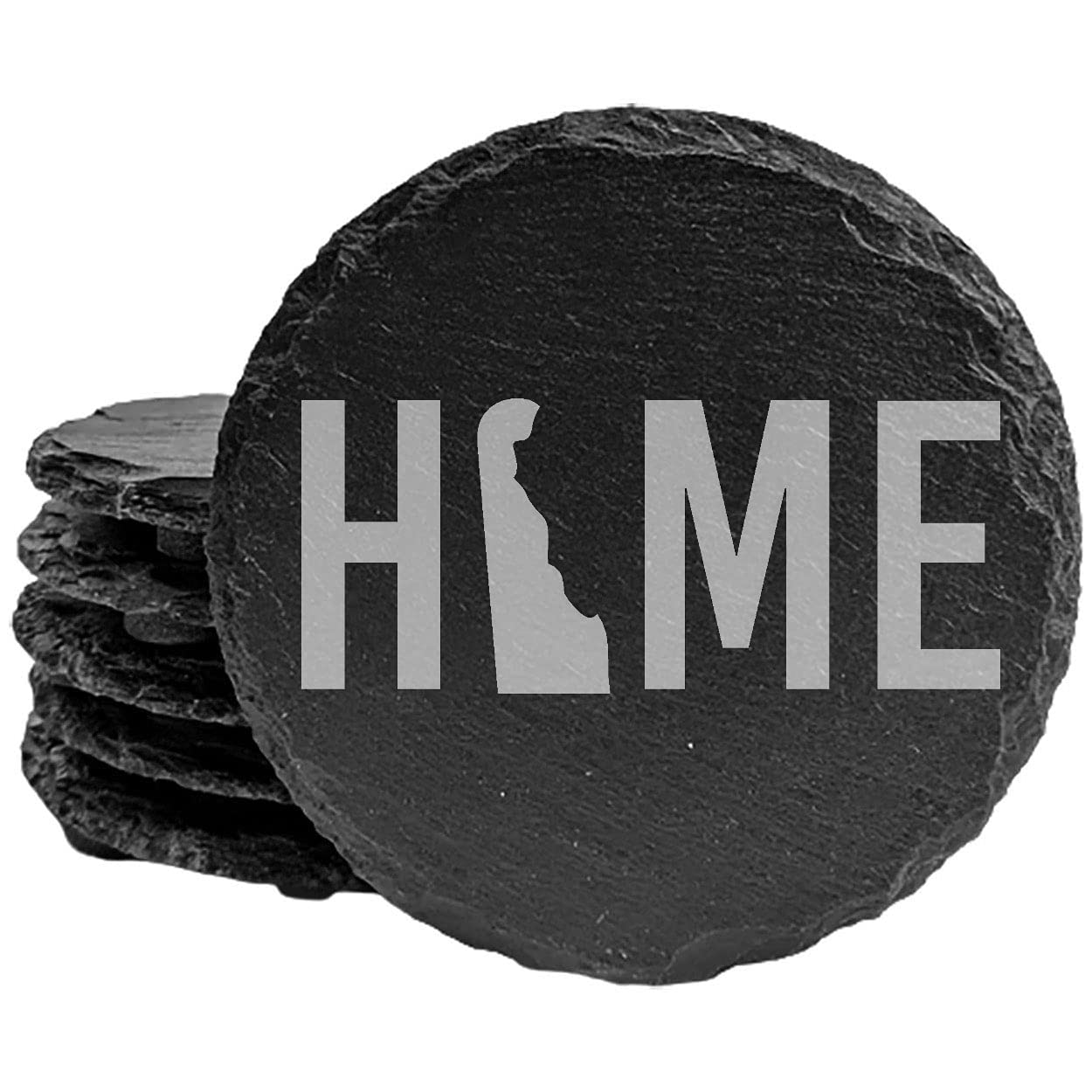 Delaware Home Coasters - Round of Slate Factory outlet set Portland Mall 8