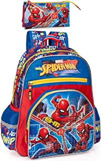 Marvel Spiderman Sac à dos et trousse pour enfant Motif Spiderman