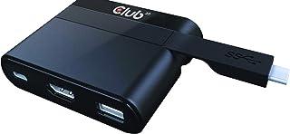 Club3D SenseVision USB3.0 Type C to HDMI 2.0 4K 60Hz USB2.0 Type A USB 3.0 Type C PD 60W 給電 Charging Mini Dock ミニドック (CSV-...