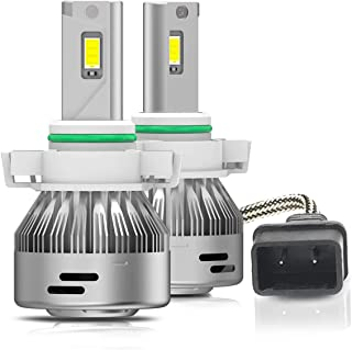 LASFIT 5202/PSX24W/2504/5200/5201/9009 LED Fog Light Bulbs 6000K Xenon White 60W 6000LM- All-in-One Conversion Kit (Pack of 2)