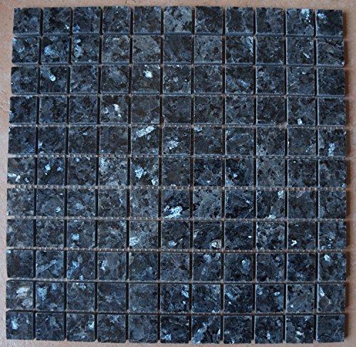 Granito mosaico Matte Blue Pearl 30x 30cm 8mm Pulido azulejos