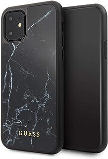 Guess Hülle aus der Marmorsammlung GUHCN61HYMABK für das iPhone 11, schwarz