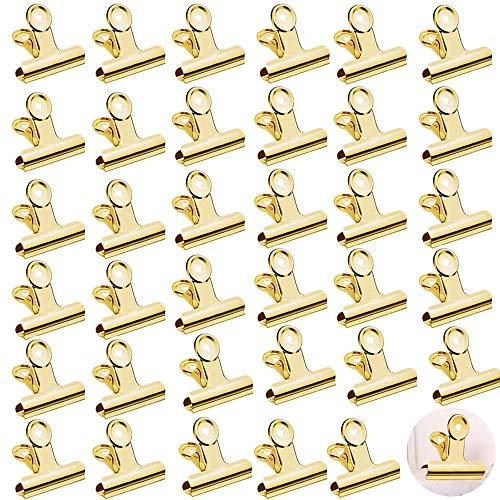 WELLXUNK® Klammern,35 Stück Metall Clips,klammern für fotos,Papier Clips Klammern,für Küche zu Hause, Büro Zubehör