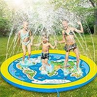 [Tappetino per spruzzo Super Size] Il tappetino per spruzzo Super size 71 '' fornisce grandi aree di gioco per 3-5 bambini, giocare in acqua sarà il gioco preferito dei bambini in estate. Goditi la calma e il divertimento! [Educational Kiddie Splash ...