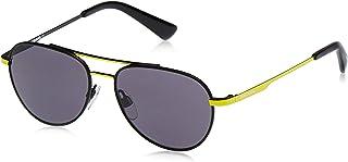 نظارات شمسية للجنسين من ديزل DL029141A50 - اصفر/ رمادي داكن معدني