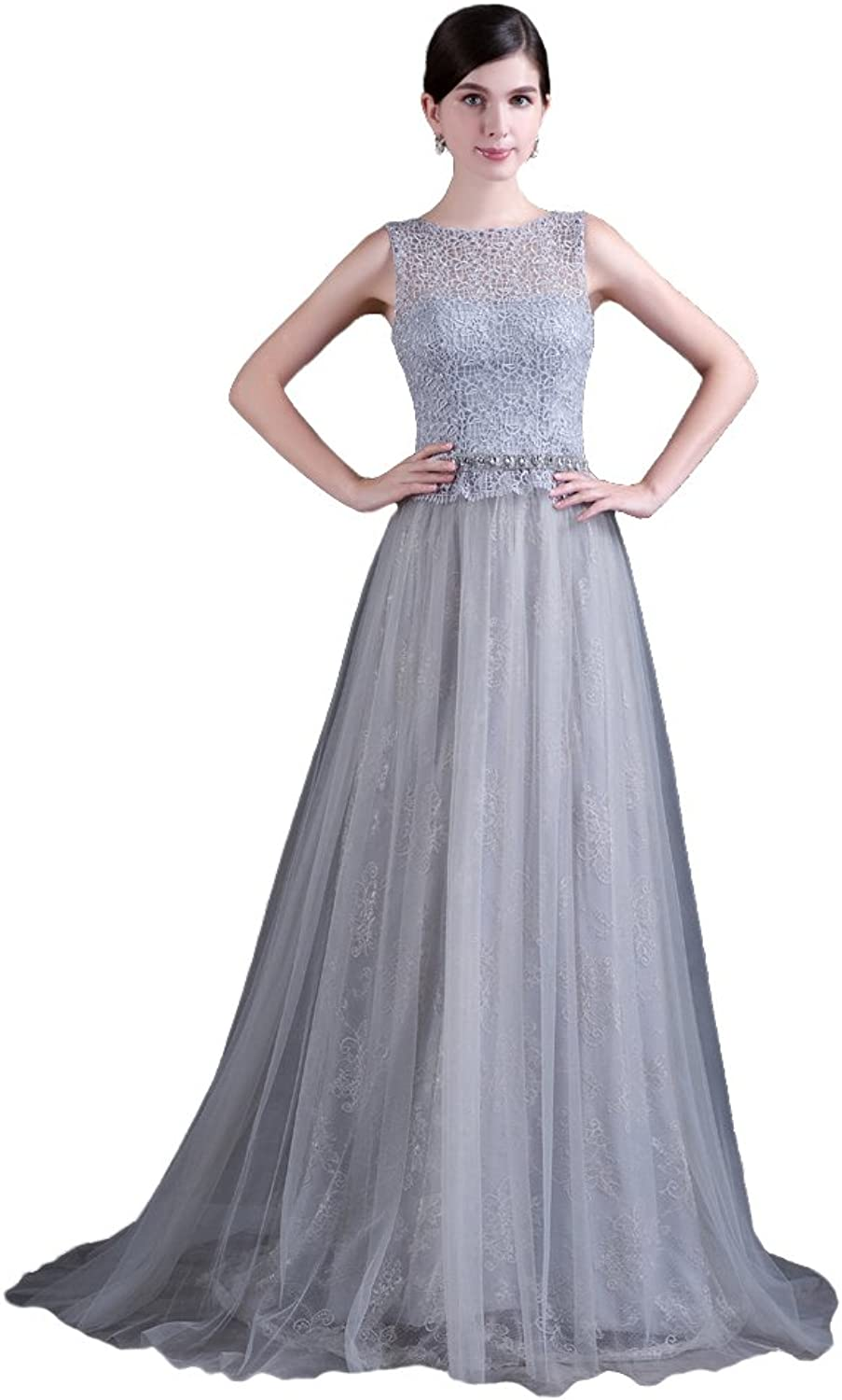 YSFS Women's Lace Aline Long Evening Prom Dresses Gowns