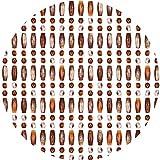 GDMING- Perlenvorhang Türvorhang Dichte Acrylperlen Kettenplatten Raumteiler Fadenvorhang Wandplatte Zum Party Türöffnung Dekoration, Anpassbar (Color : Brown, Size : 149 Strands...
