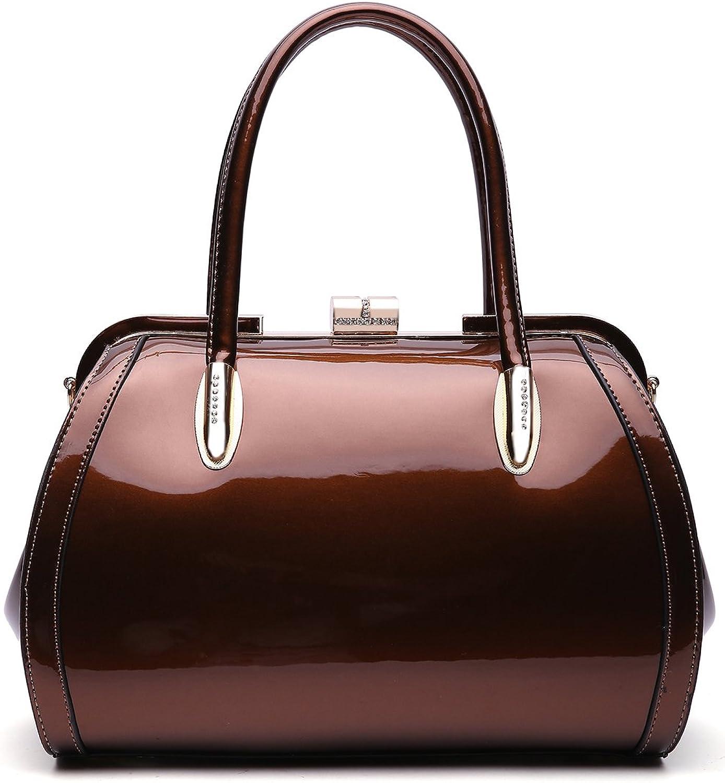 MKF Crossbody Satchel Shoulder Bags for Women - Patent PU Leather Handbag Purse - Marlene Lady Fashion Pocketbook