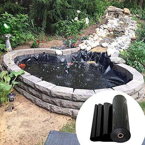 Revestimiento De Estanque 0.3mm Estanque De Lámina Pond Liner 6x8m Forro para Estanque para Estanques De Peces, Elementos Acuáticos, Fuentes, Cascadas /52 Tamaños