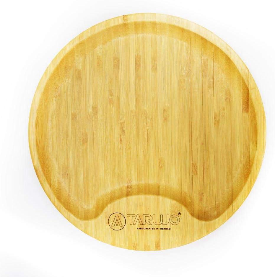 Max 54% OFF Tarujo Round Bamboo Serving Tray Ottoman for Superlatite