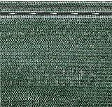 Rete Ombreggiante Frangivista Telo Ombra Telone Per Giardino, Per Rete Metallica Esterno Schermante Rotolo Verde Scuro Copertura Oltre 90% Con Stabilizzazione UV ED Asole Rinforzate (2 x 50 M)