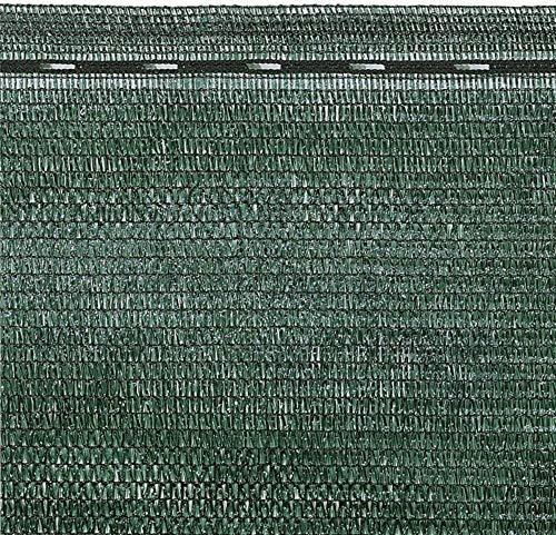 Rete Ombreggiante Frangivista Telo Ombra Telone Per Giardino, Per Rete Metallica Esterno Schermante Rotolo Verde Scuro Copertura Oltre 90% Con Stabilizzazione UV ED Asole Rinforzate (1 x 50 M)