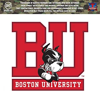 Victory Tailgate Boston University Terriers Operation Hat Trick OHT Die Cut Vinyl Decal