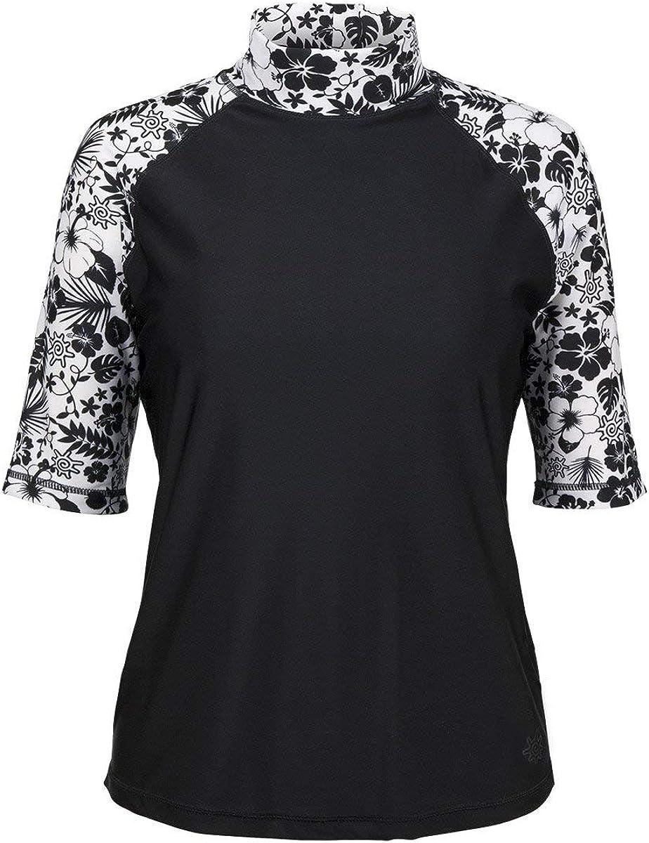 UV SKINZ Women's UPF 50+ Aloha Short Sleeve Sun and Swim Shirt – Sun-Blocking Shirt