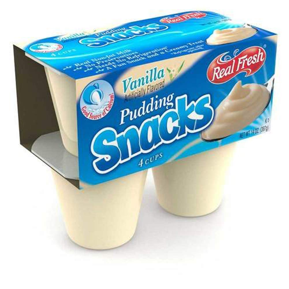 New arrival Real Fresh Vanilla Pudding Count 3.5 oz. Ranking TOP20 48