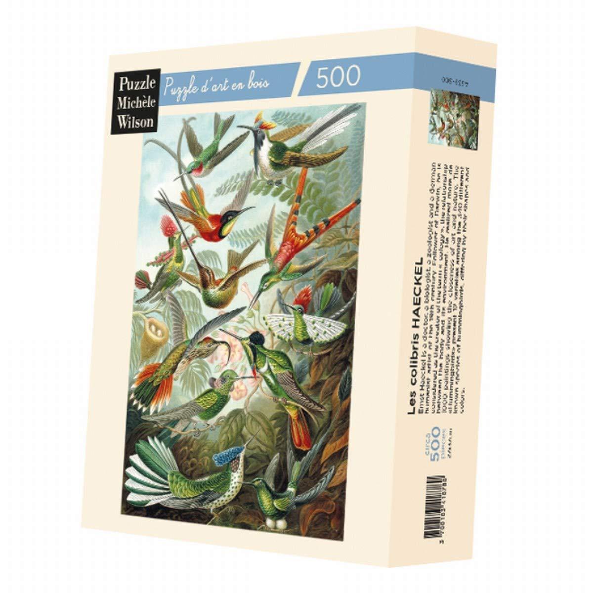 Artefact Puzzles-Haeckel colibris wooden jigsaw puzzle