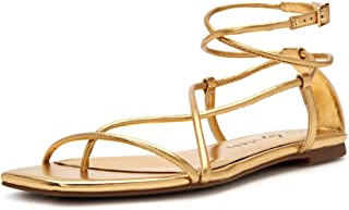 Katy Perry Women's The Luv Flat Sandal, NEW GOLD, 6.5