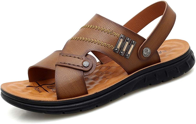 HHF Flat Sandaler och Slippers, Mode sommar Leisure Sandals Sandals Sandals för män, Slip On Style Microbiber läder Metaldecor Massage Insoles skor  dagliga låga priser