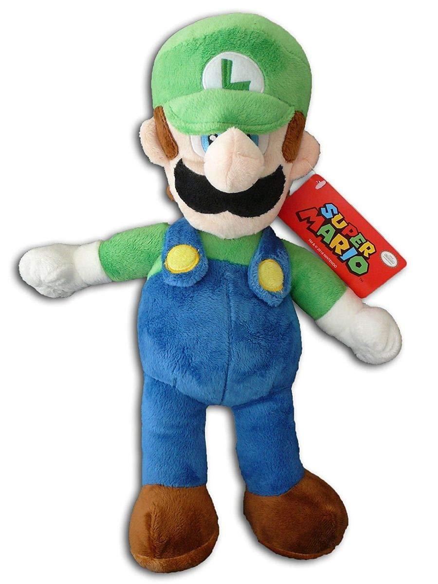 Mario Bros Super Peluche Luigi 35cm Calidad super soft: Amazon.es: Juguetes y juegos