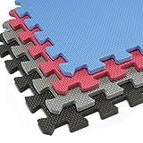 Alpine Neighbor Interlocking Foam Mats with Borders | Thick EVA Exercise Flooring |