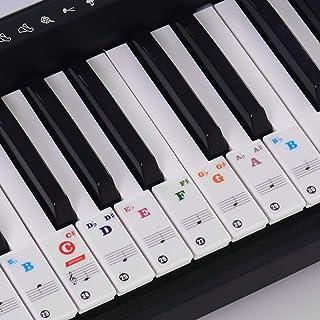 ammoon Piano Keyboard Stickers for 37/49/61/88 Key Keyboards