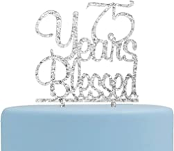 75 years blessed cake topper